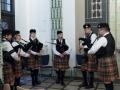 Eröffnung der Ausstellung mit Smallpipemusik