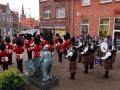 Unser Auftritt mit den Irish Guards vor der Sydbank
